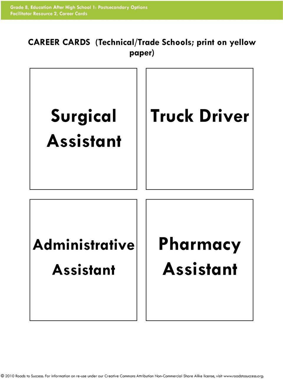 yellow paper) Surgical Assistant Truck