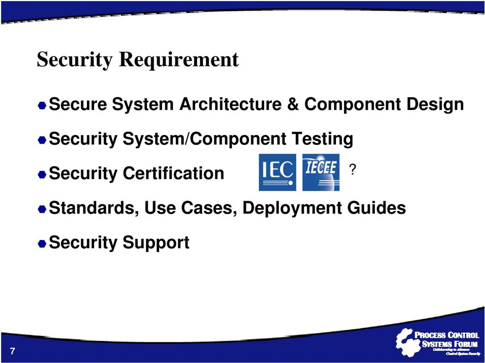 System/Component Testing Security