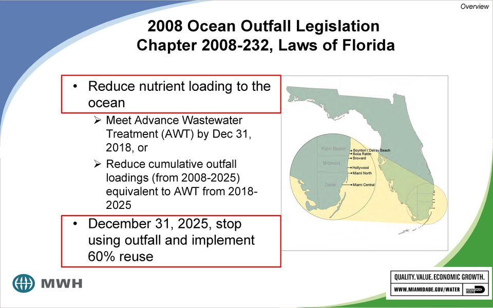 Dec 31, 2018, or Reduce cumulative outfall loadings (from 2008-2025) equivalent