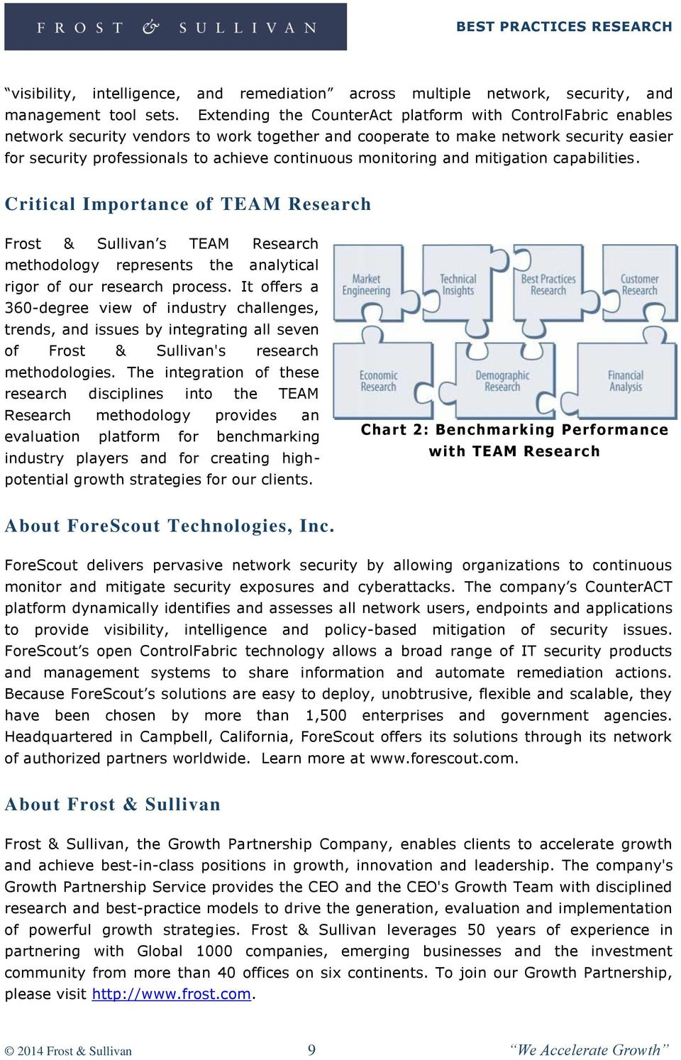 monitoring and mitigation capabilities. Critical Importance of TEAM Research Frost & Sullivan s TEAM Research methodology represents the analytical rigor of our research process.