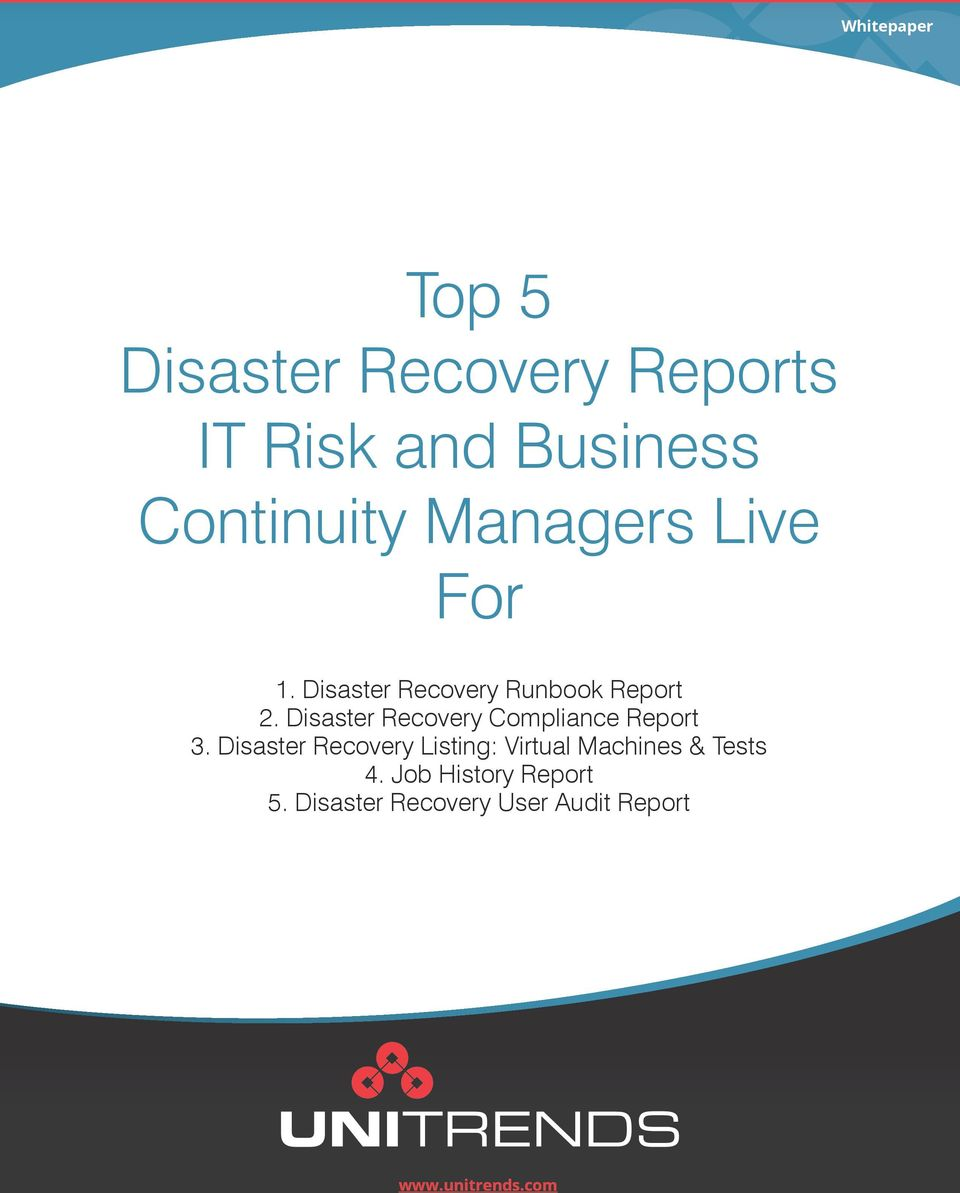 Disaster Recovery Compliance Report 3.