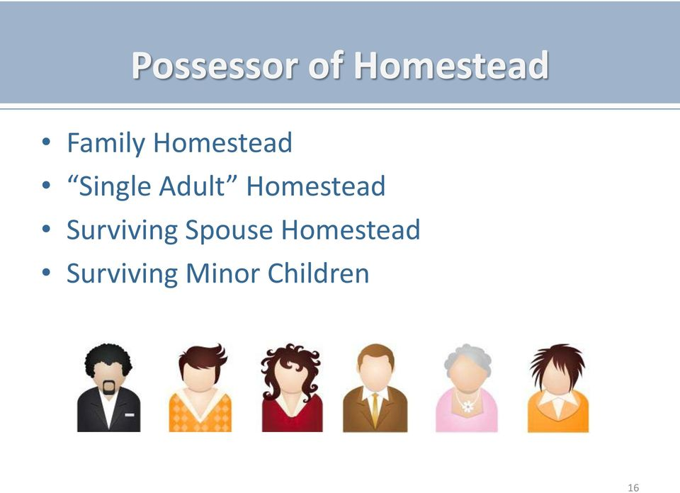 Homestead Surviving Spouse