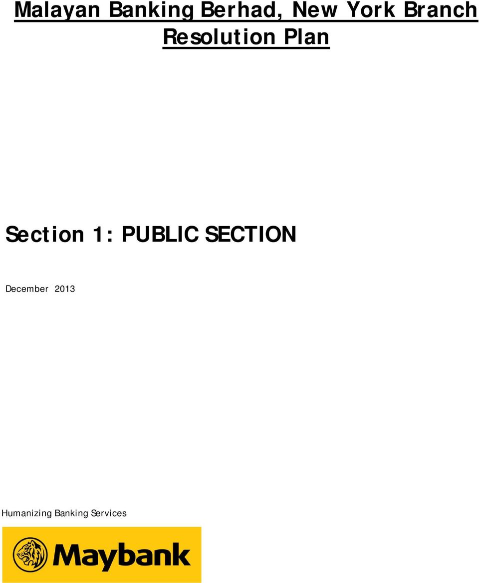 Section 1: PUBLIC SECTION