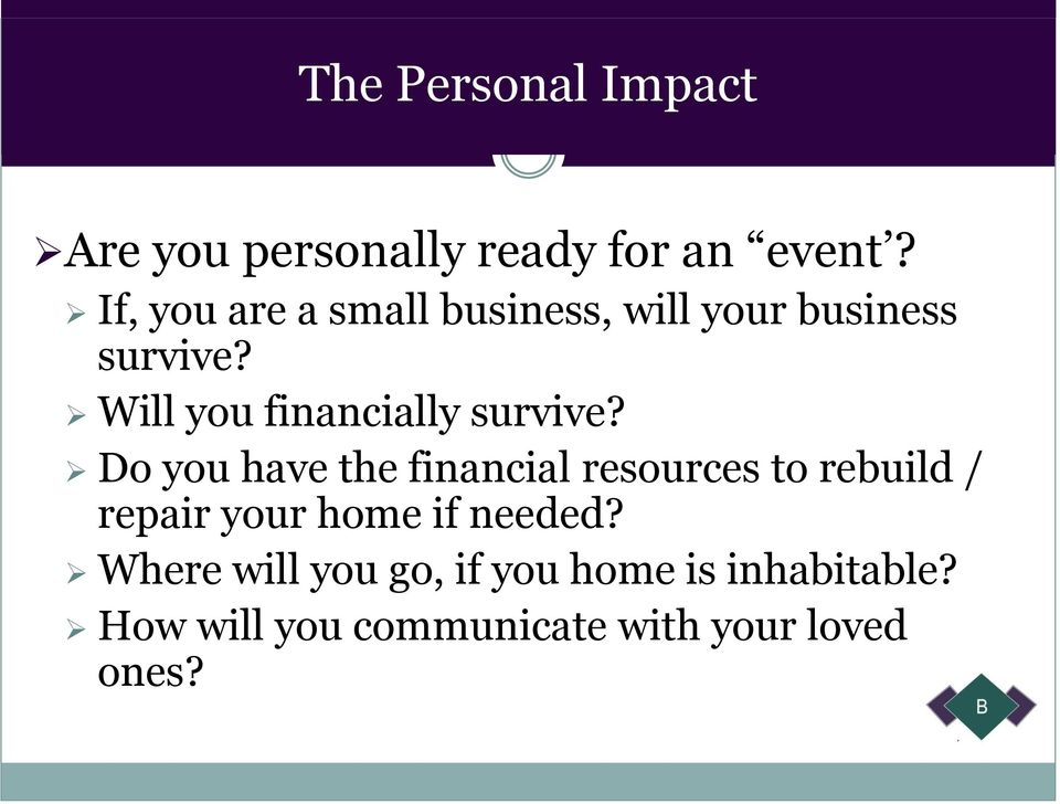 Will you financially survive?
