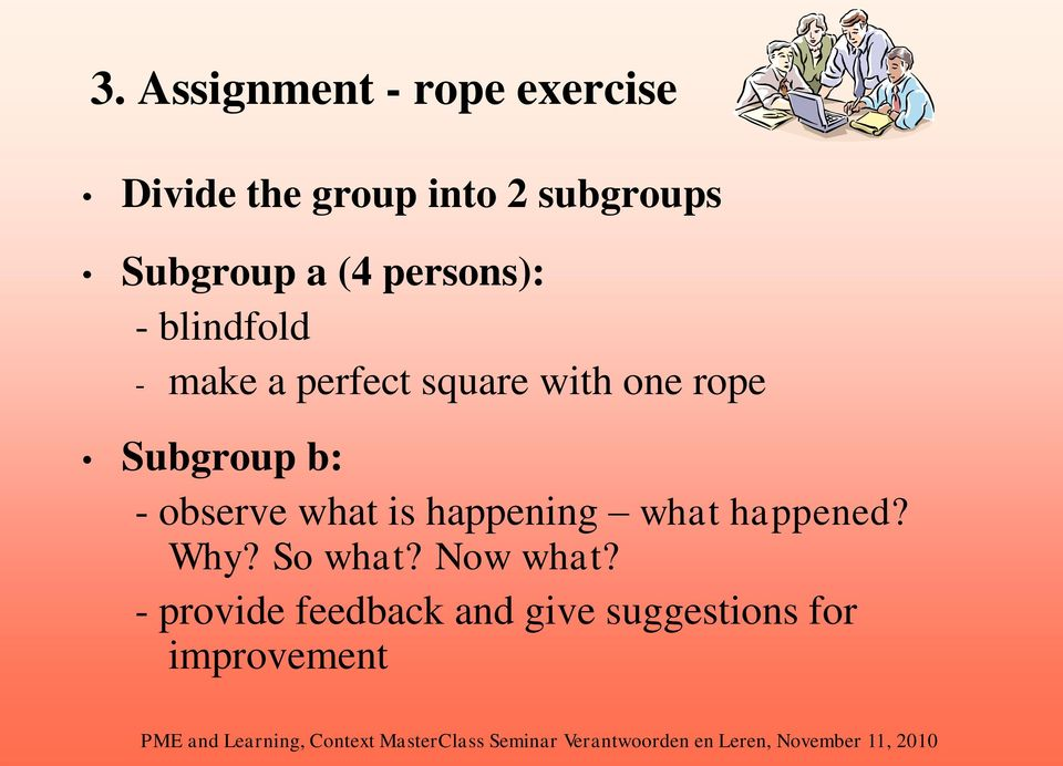 one rope Subgroup b: - observe what is happening what happened? Why?