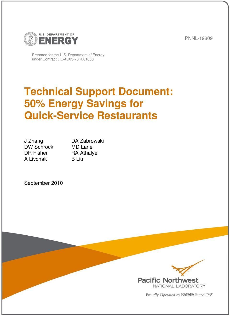 Support Document: 5% Energy Savings for Quick-Service