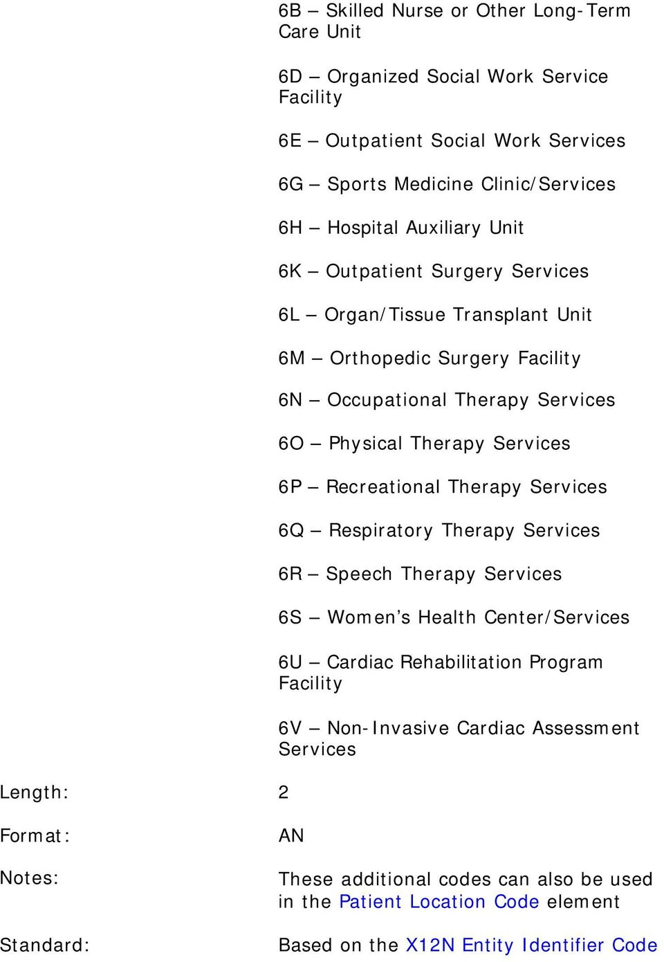 Recreational Therapy 6Q Respiratory Therapy 6R Speech Therapy 6S Women s Health Center/ 6U Cardiac Rehabilitation Program 6V Non-Invasive Cardiac