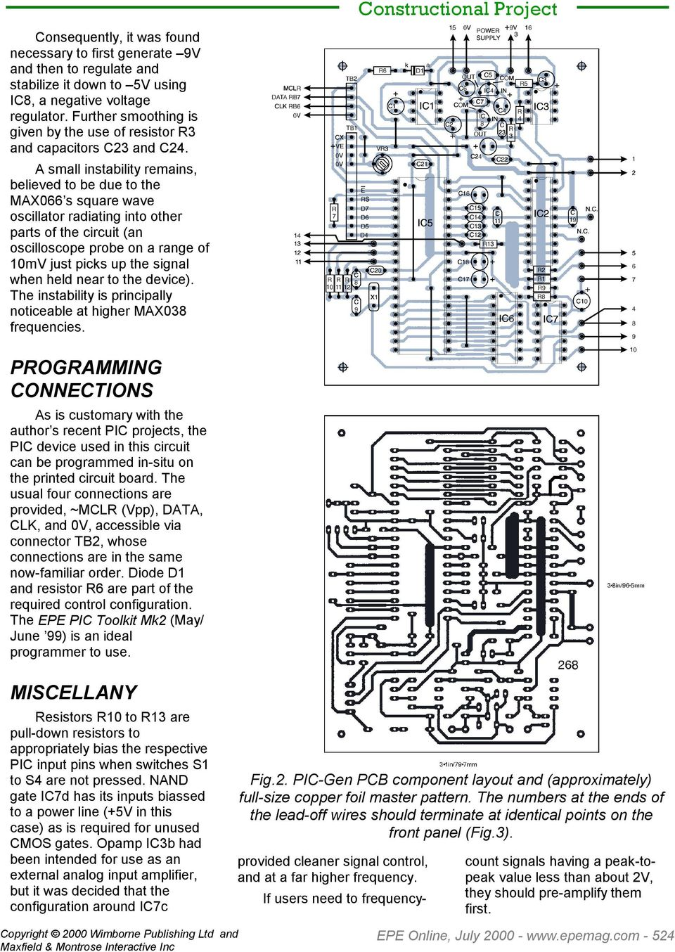 Pic Gen Frequency Generator Counter By John Becker Pdf The Circuit Design I Use To Create A Variable Frequencygenerator Small Instability Remains Believed Be Due Max066 S Square Wave Oscillator
