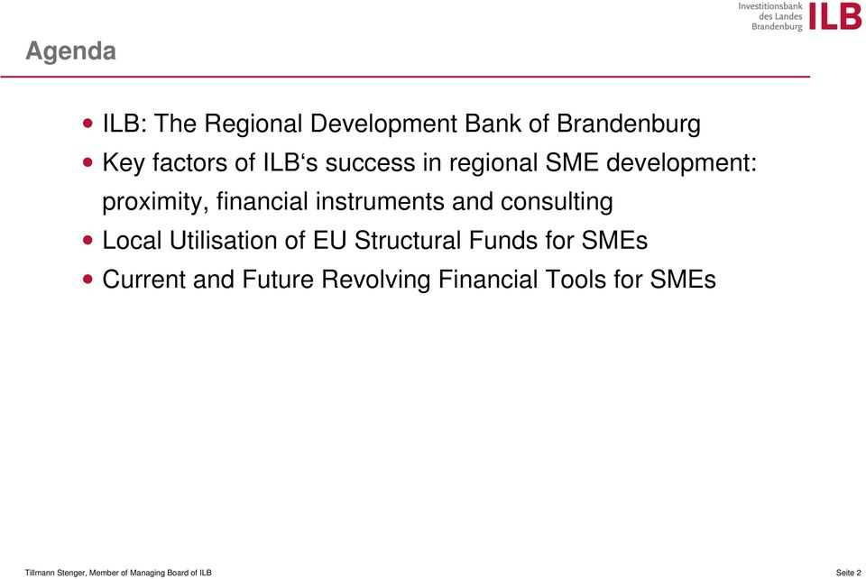 consulting Local Utilisation of EU Structural Funds for SMEs Current and Future