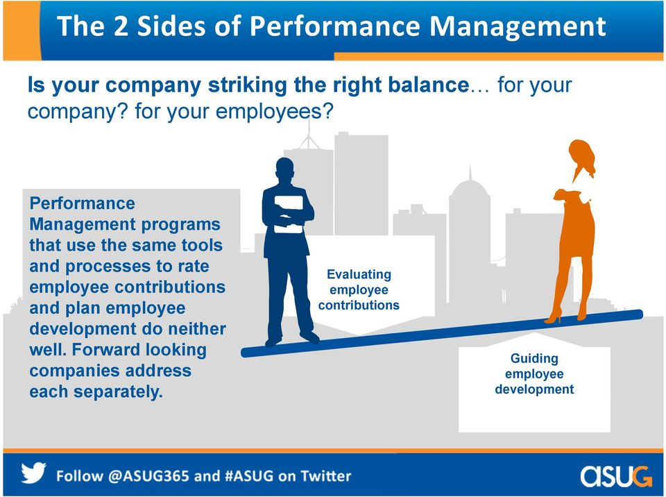 Performance Management programs that use the same tools and processes to rate employee