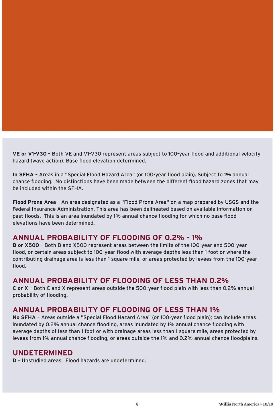 No distinctions have been made between the different flood hazard zones that may be included within the SFHA.