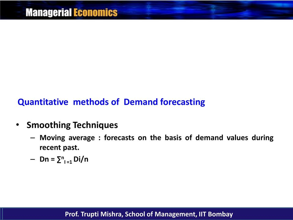 basis of demand values during