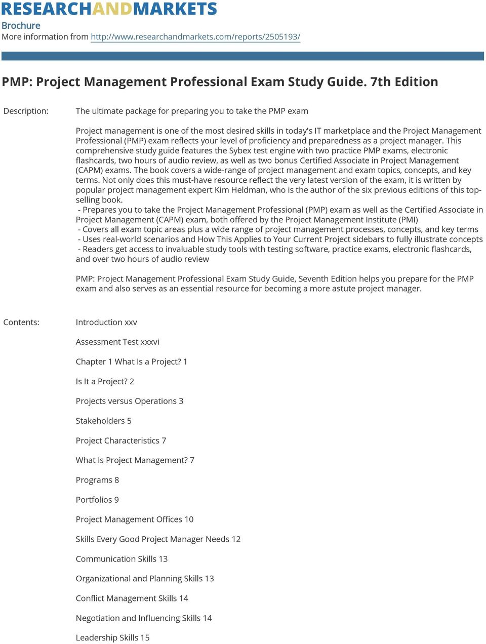 Professional (PMP) exam reflects your level of proficiency and preparedness as a project manager.