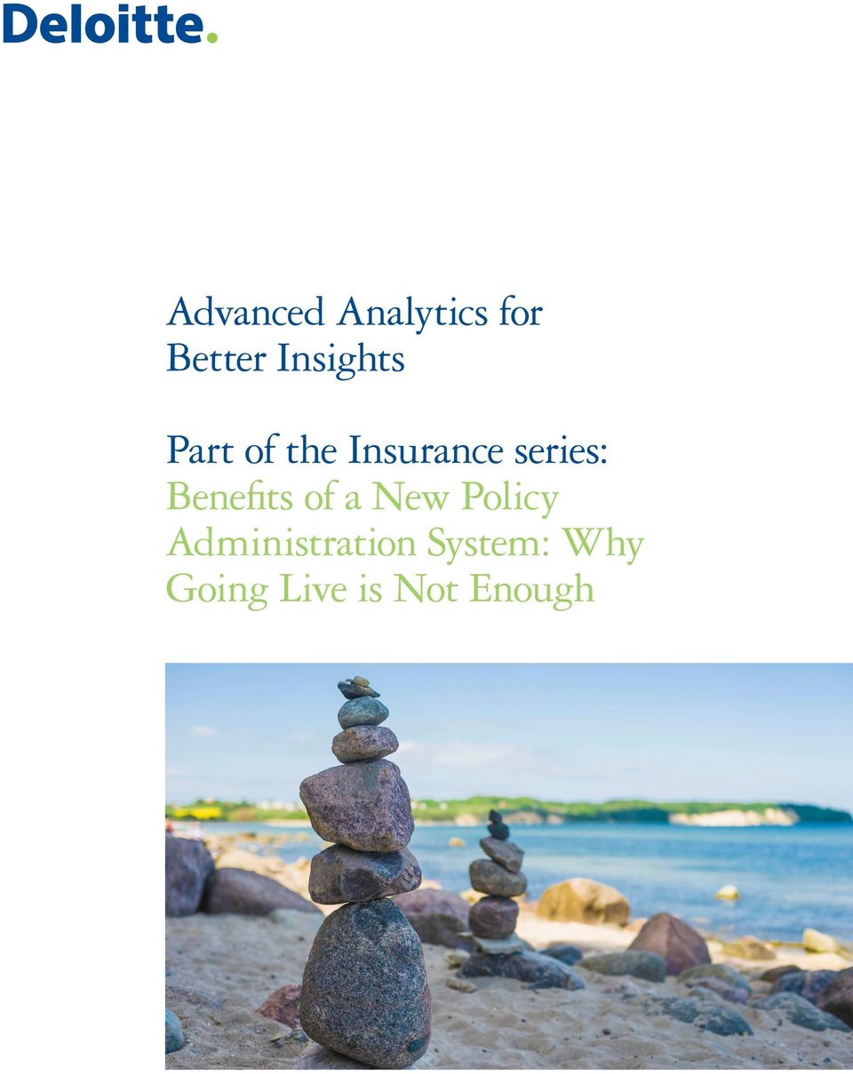 series: Benefits of a New Policy