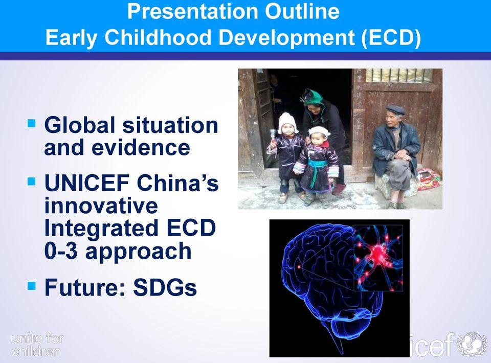 and evidence UNICEF China s