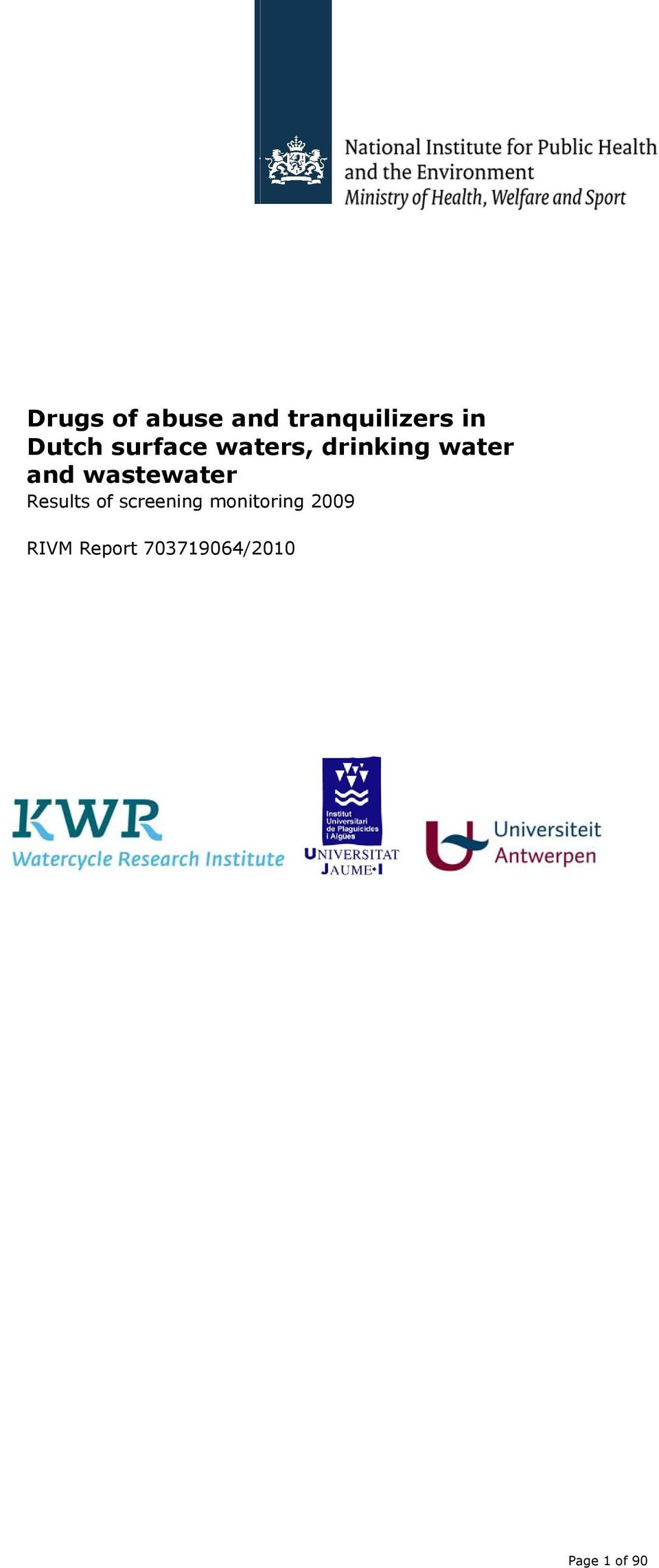 wastewater Results of screening