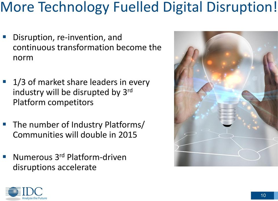 market share leaders in every industry will be disrupted by 3 rd Platform