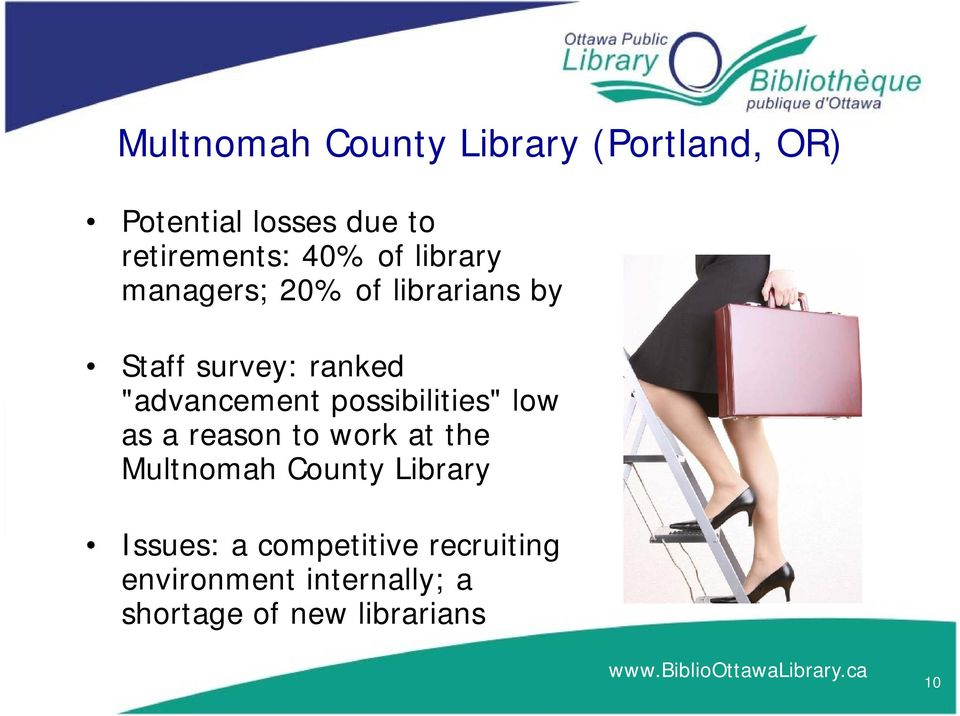 """advancement possibilities"" low as a reason to work at the Multnomah County"