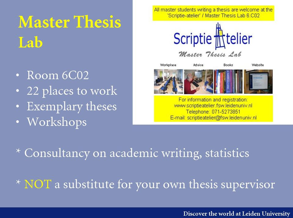 Consultancy on academic writing,