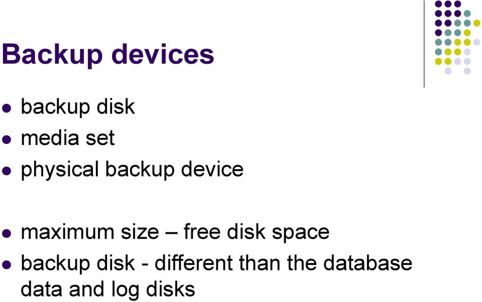 free disk space backup disk -