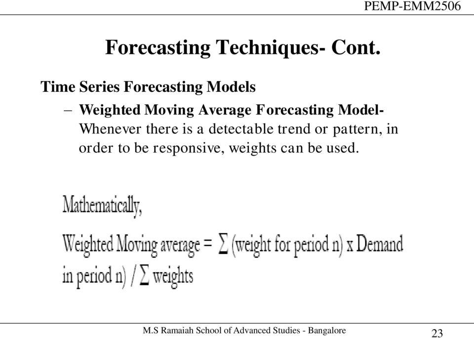 Average Forecasting Model- Whenever there is a