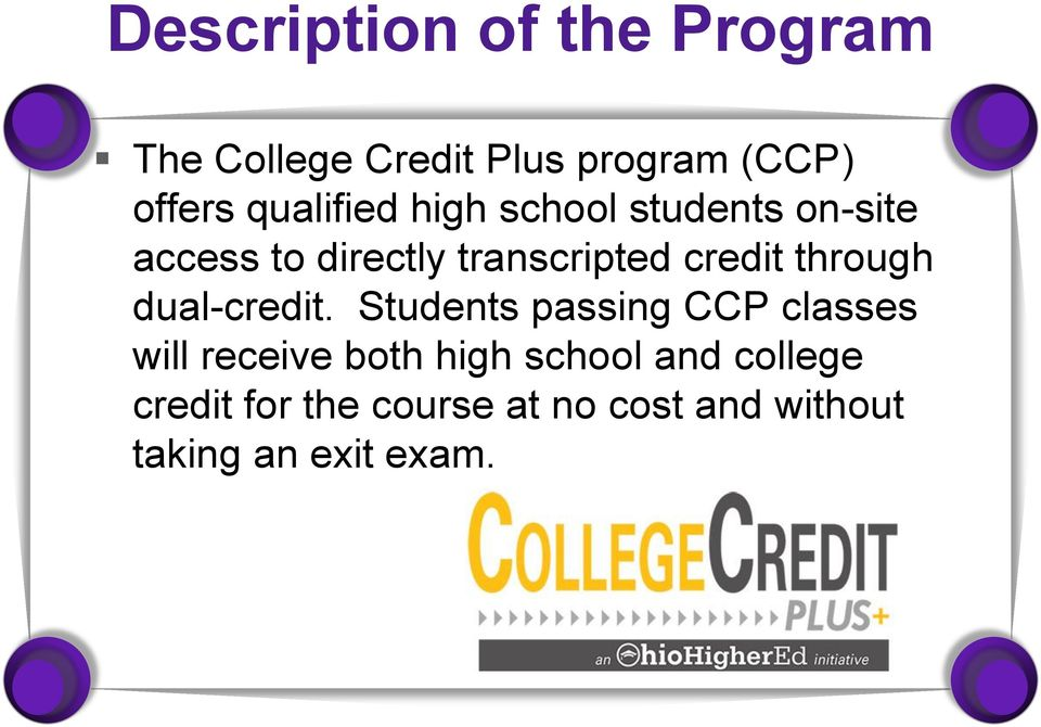credit through dual-credit.
