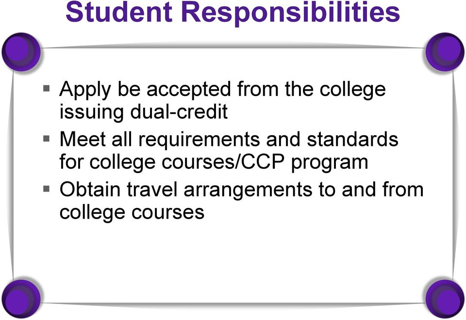 requirements and standards for college courses/ccp