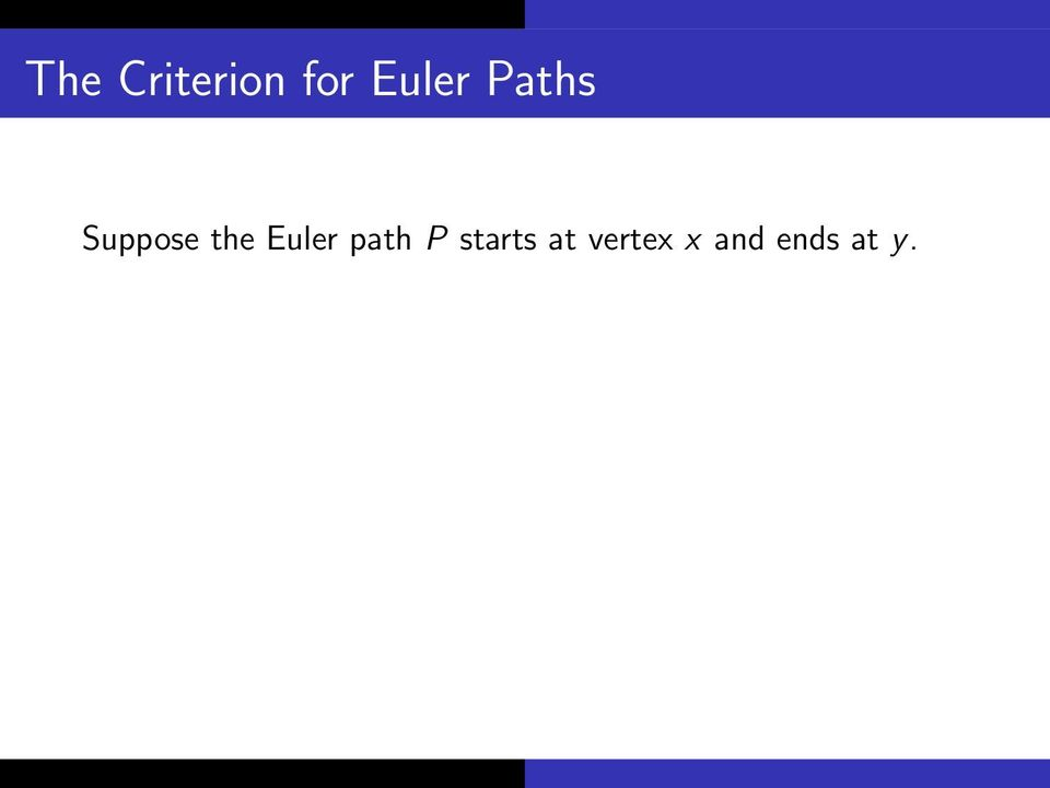 the Euler path P