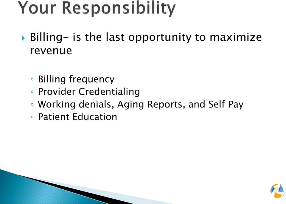 Provider Credentialing Working