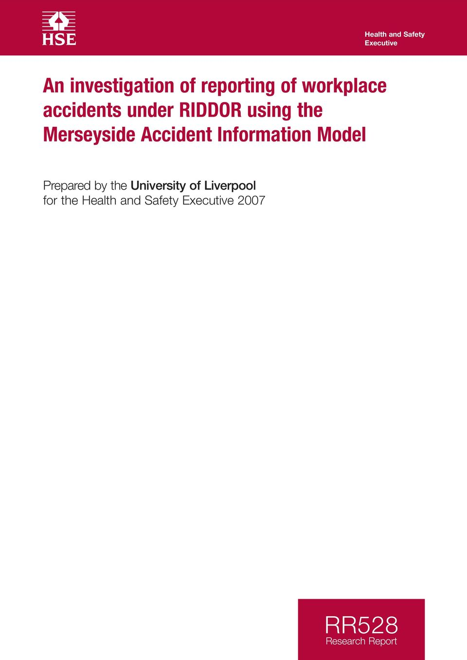 Accident Information Model Prepared by the University of