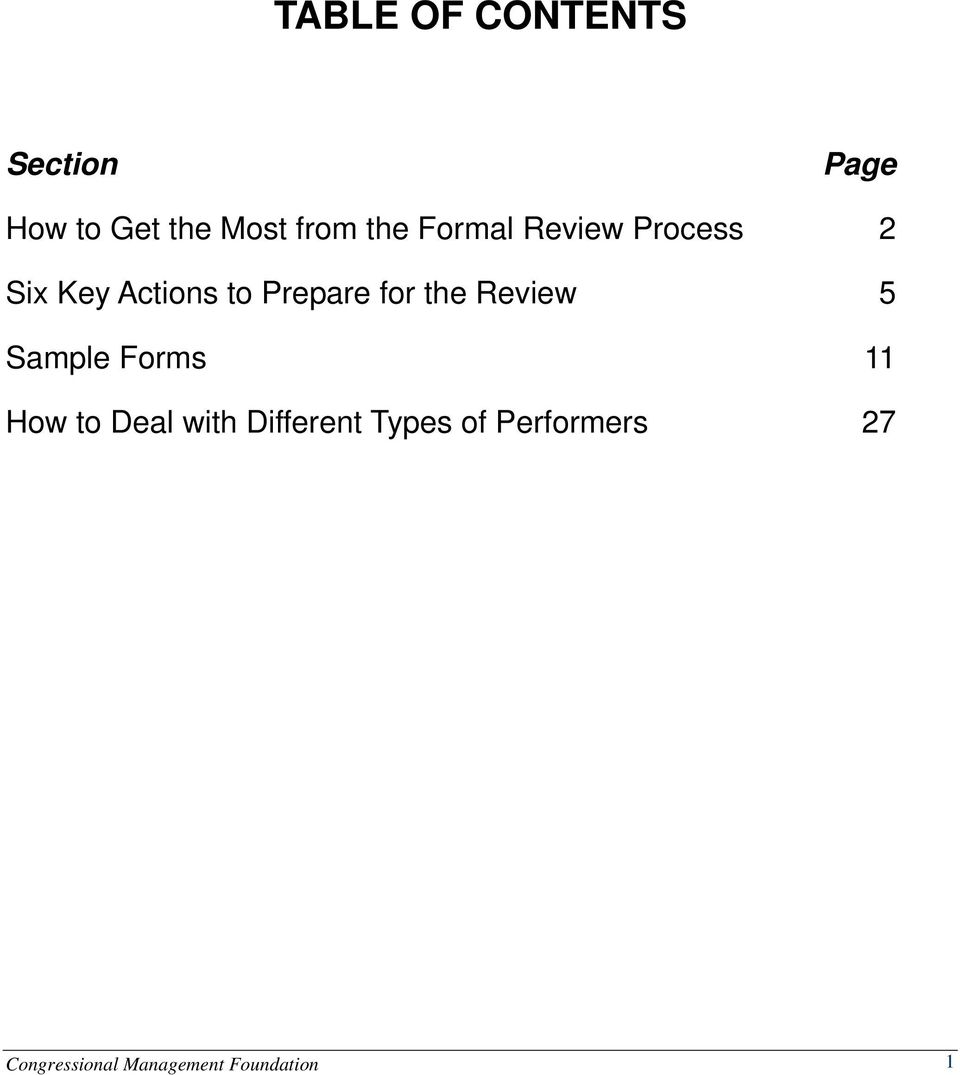 for the Review 5 Sample Forms 11 How to Deal with