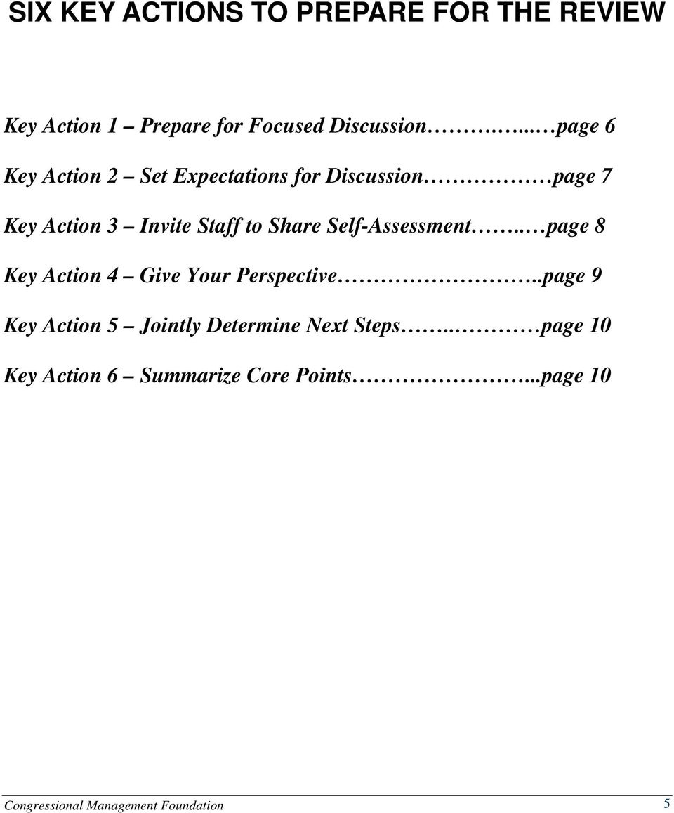 Share Self-Assessment.. page 8 Key Action 4 Give Your Perspective.