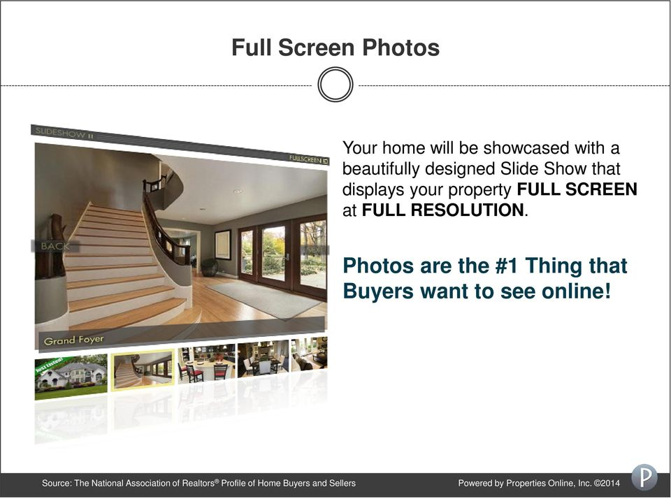 Photos are the #1 Thing that Buyers want to see online!