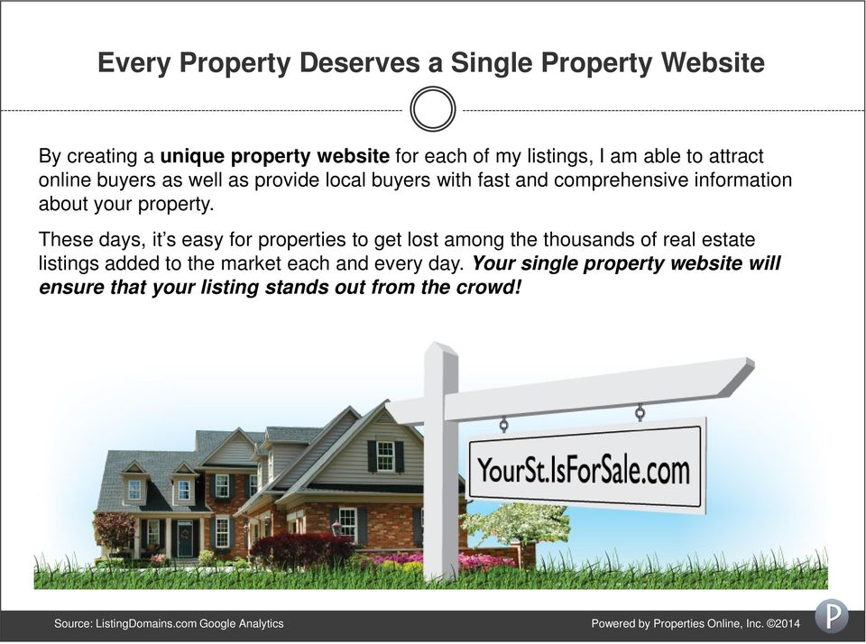 These days, it s easy for properties to get lost among the thousands of real estate listings added to the market each and every day.