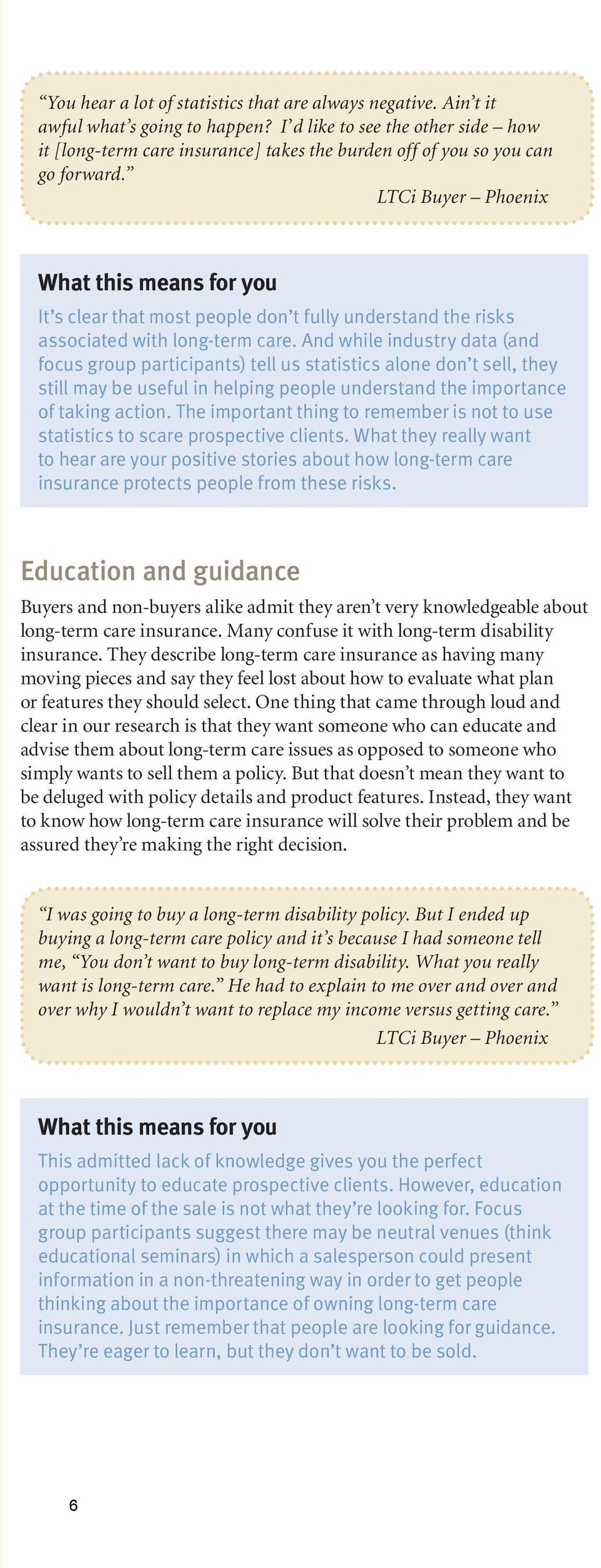 LTCi Buyer Phoenix It s clear that most people don t fully understand the risks associated with long-term care.