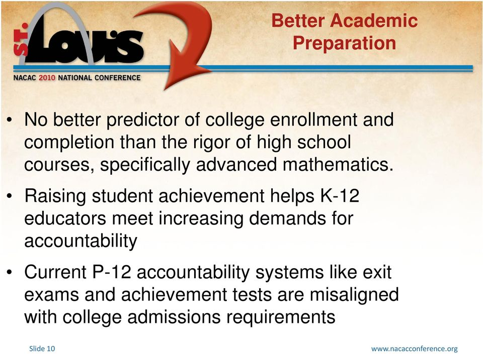 Raising student achievement helps K-12 educators meet increasing demands for accountability