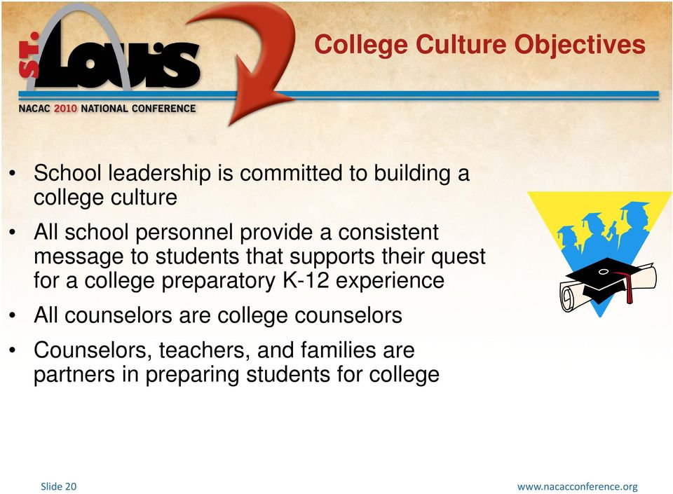 their quest for a college preparatory K-12 experience All counselors are college