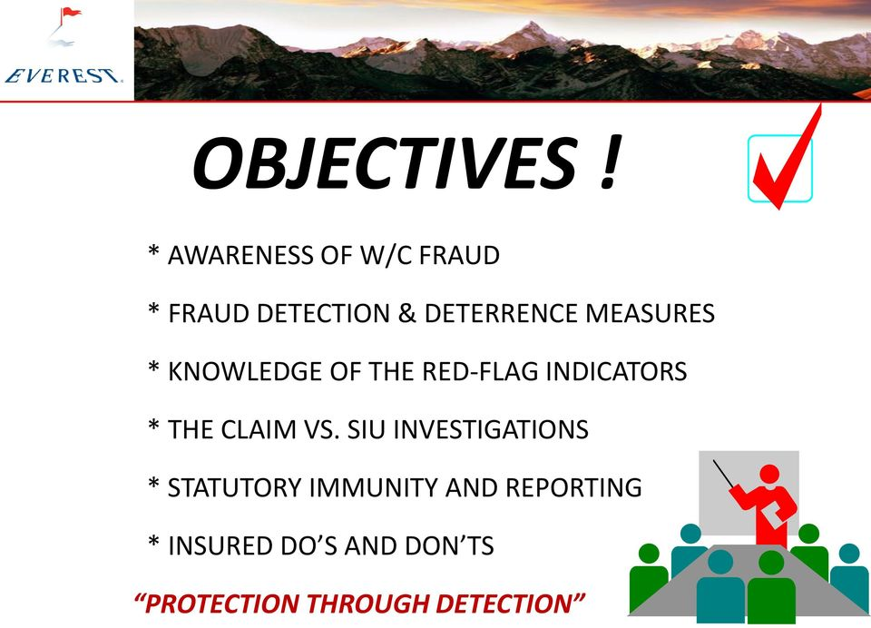 MEASURES * KNOWLEDGE OF THE RED-FLAG INDICATORS * THE CLAIM