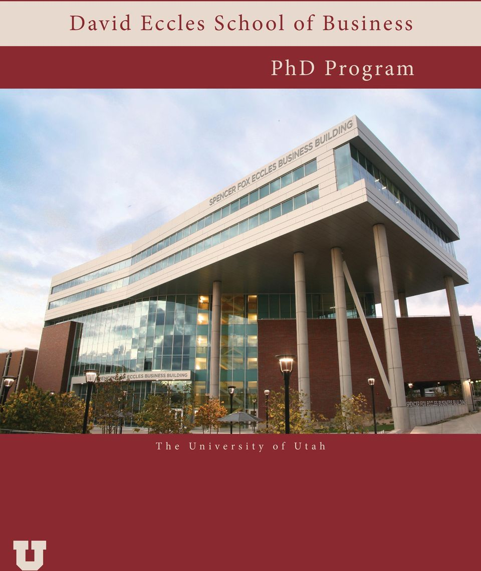 PhD Program The