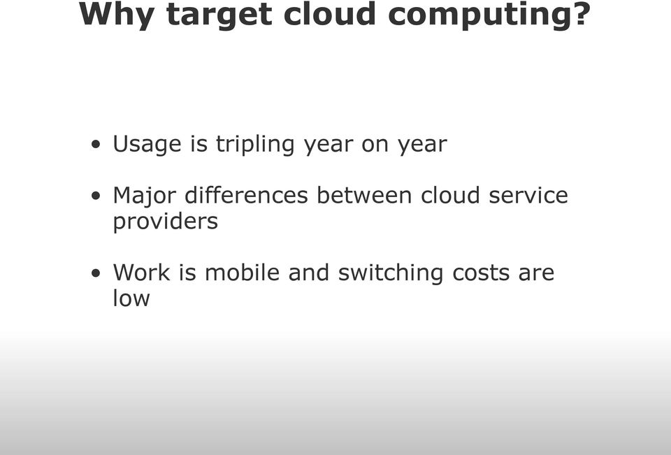 differences between cloud service