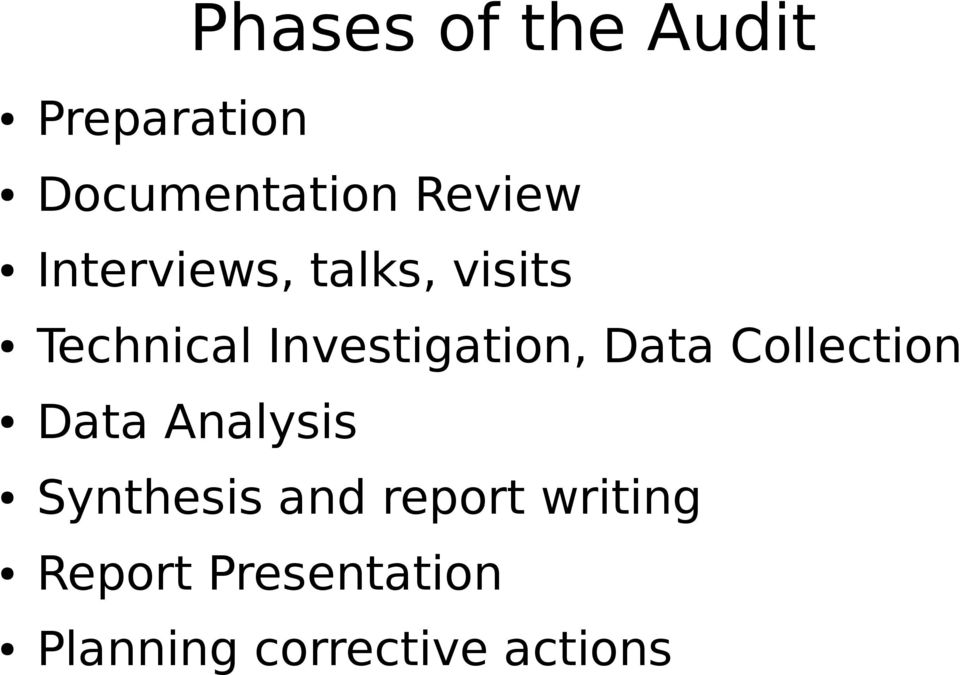 Data Collection Data Analysis Synthesis and report