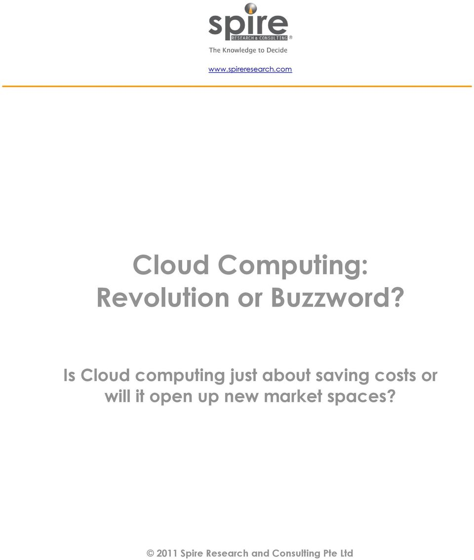 Is Cloud computing just about saving costs or