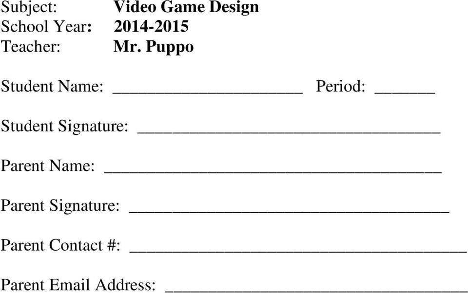 Puppo Student Name: Period: Student