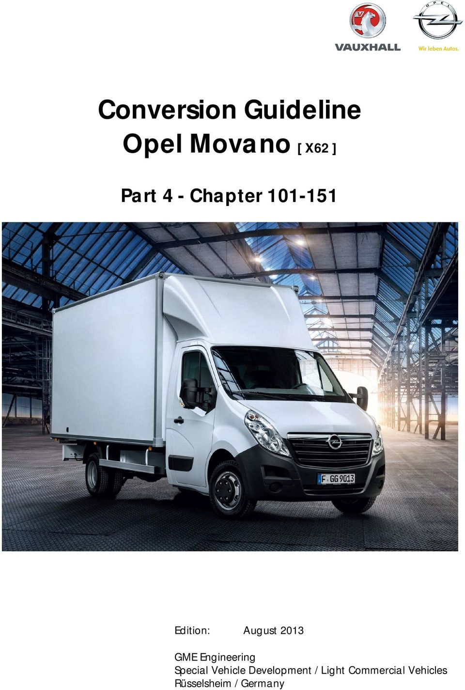 Conversion guideline opel movano x62 pdf 2013 gme engineering special vehicle asfbconference2016 Images