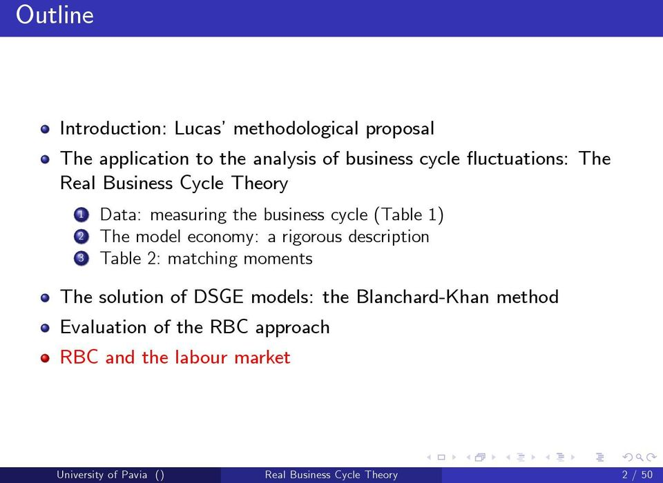 economy: a rigorous description 3 Table 2: matching moments The solution of DSGE models: the Blanchard-Khan