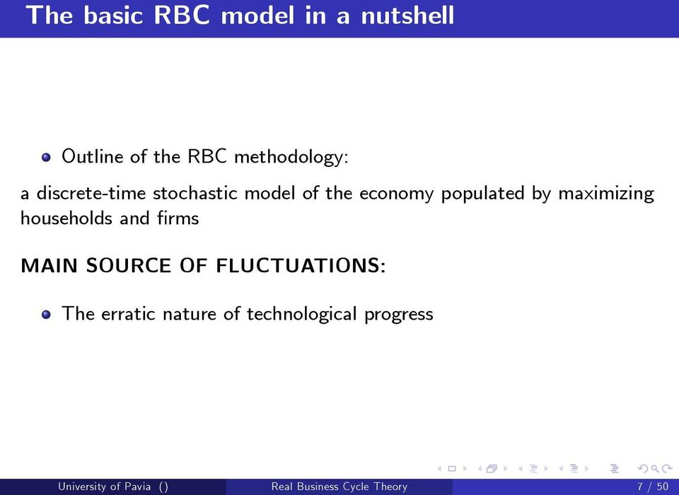 households and rms MAIN SOURCE OF FLUCTUATIONS: The erratic nature of