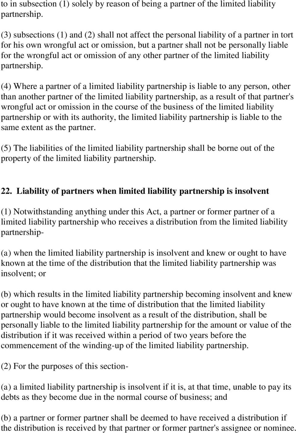 omission of any other partner of the limited liability partnership.