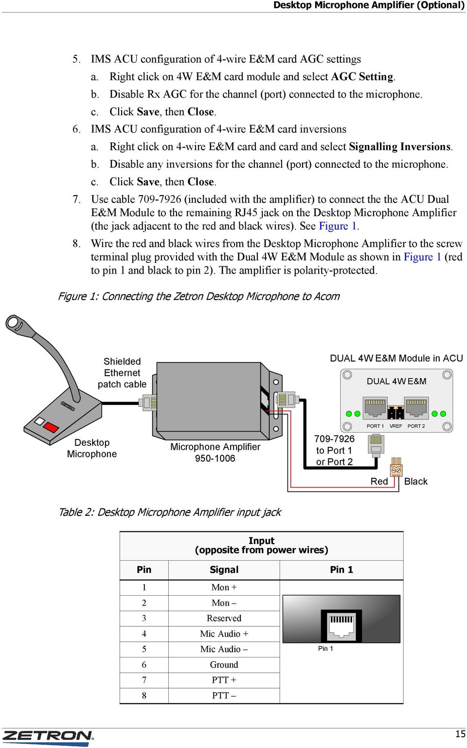 Right click on 4-wire E&M card and card and select Signalling Inversions. b. Disable any inversions for the channel (port) connected to the microphone. c. Click Save, then Close. 7.