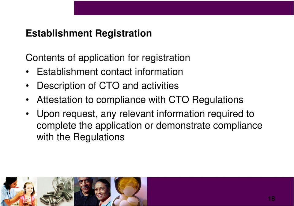 Attestation to compliance with CTO Regulations Upon request, any relevant