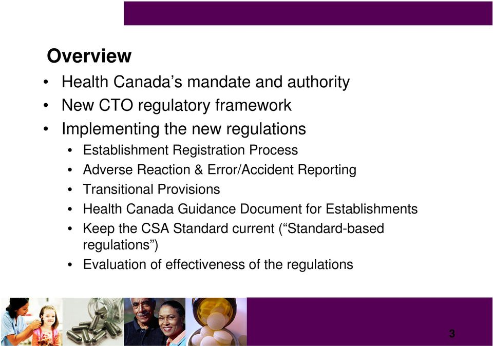 Reporting Transitional Provisions Health Canada Guidance Document for Establishments Keep